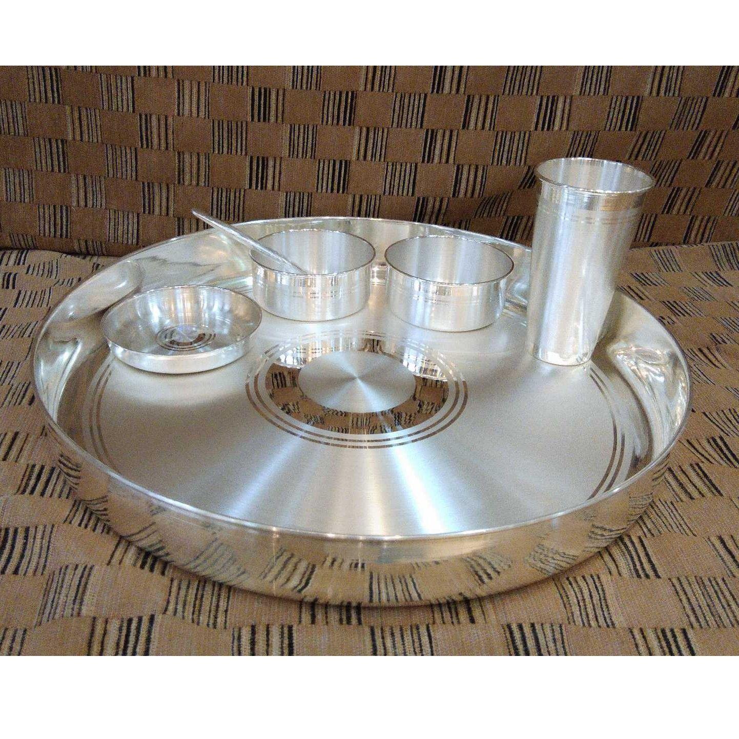 Silver Thali Set