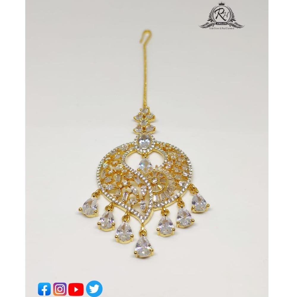 22 carat gold classical ladies tikka RH-CT638
