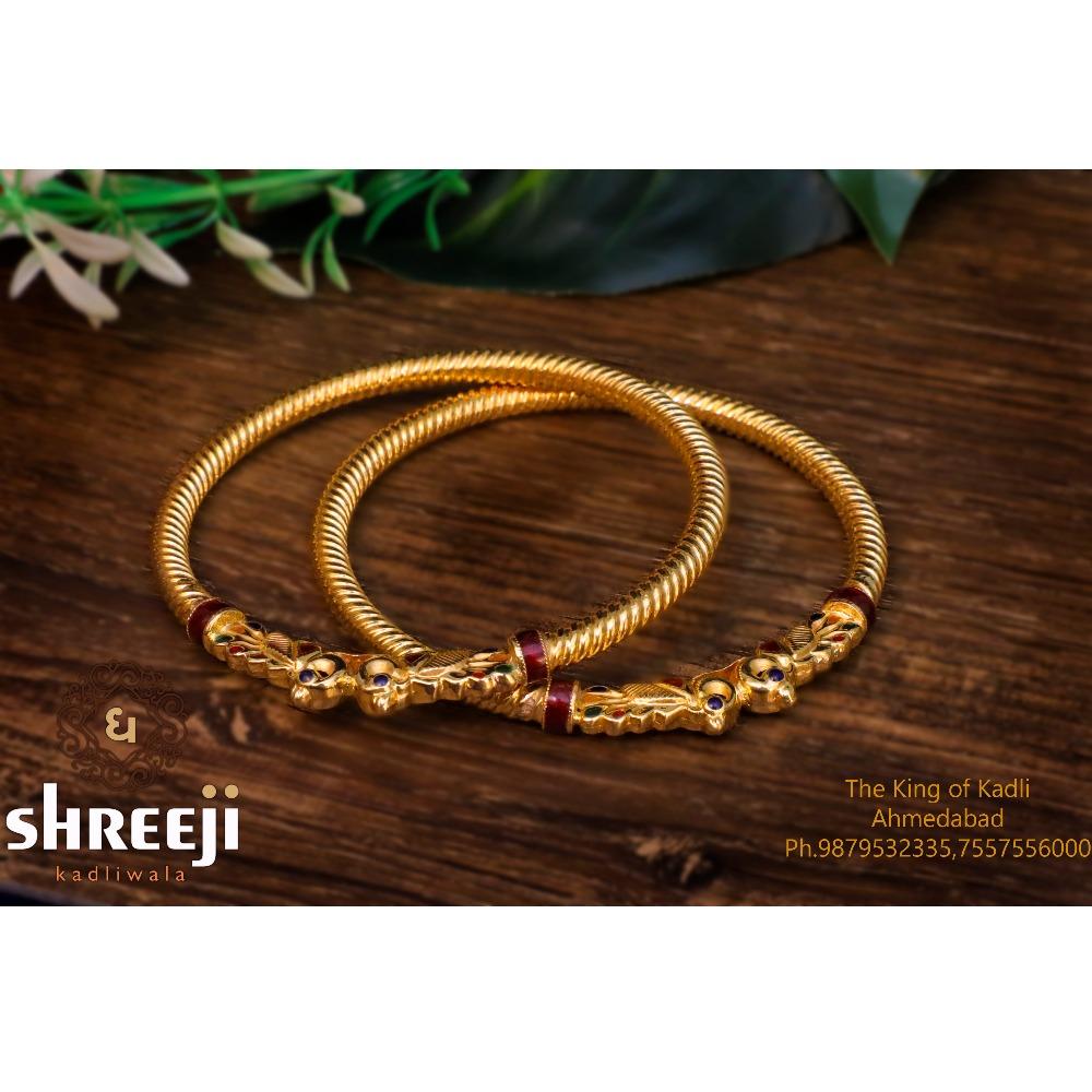 916 Gold Stylish Variya Copper Kadli