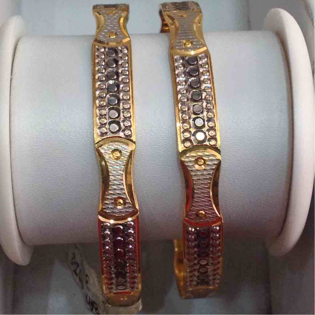 916 Gold Fancy Machine Cut Bangle