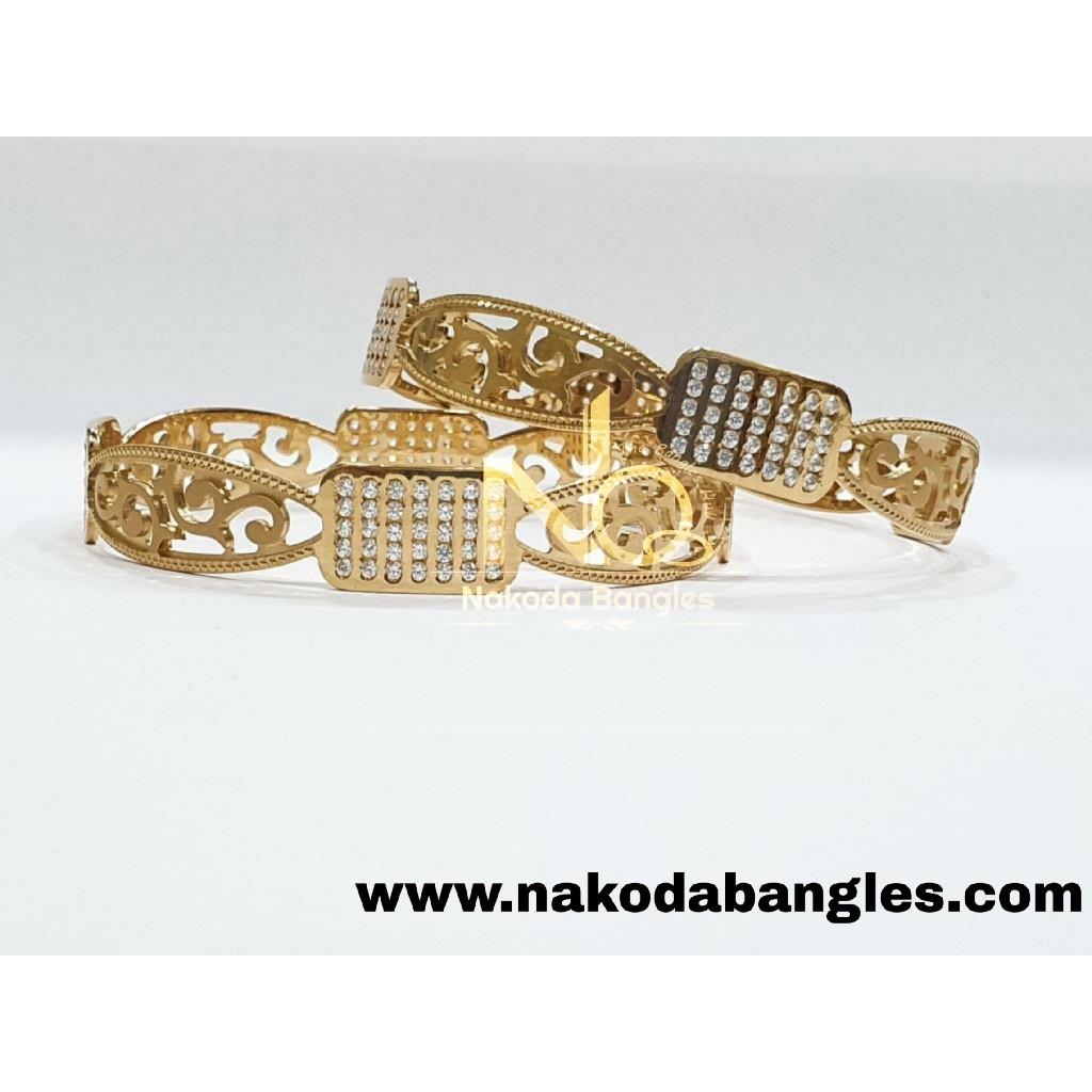 916 Gold CNC Bangles NB - 990