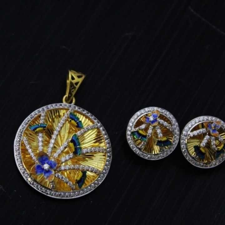 22 K Gold Fancy Pendant Set. nj-p01199