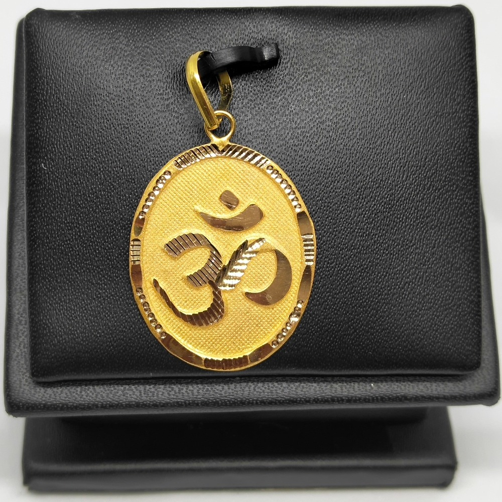 18 gold om design pendant dj-p001