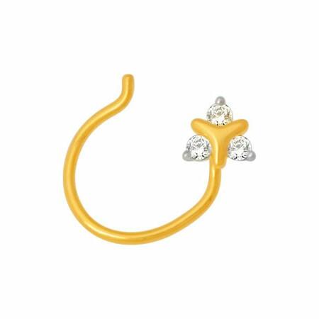 18k gold real diamond nosepin mga - rn0016