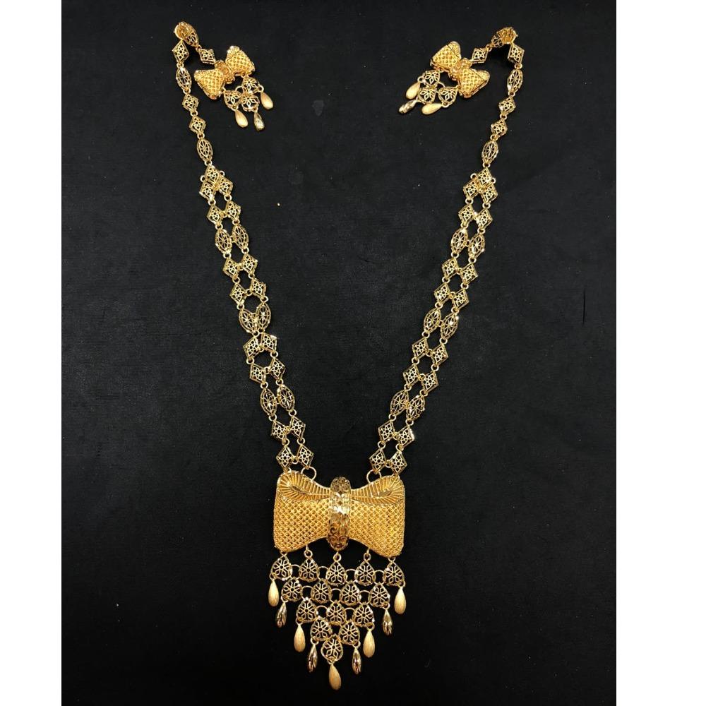 22K Gold Antique Long Necklace Set