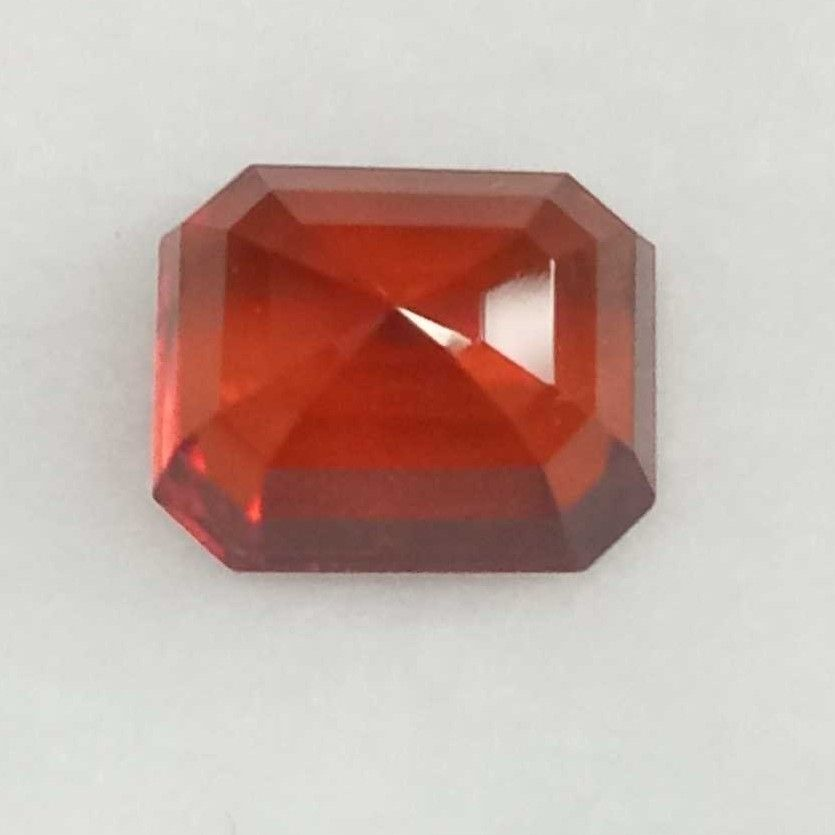 6.19ct rectangle brown hessonite-gomed