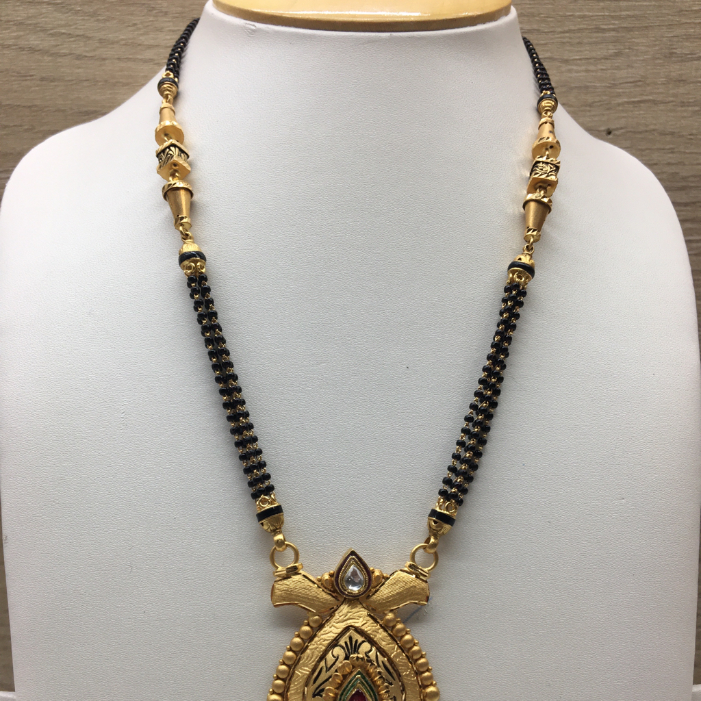 916 Gold Antique Wedding Jewellery Mangalsutra