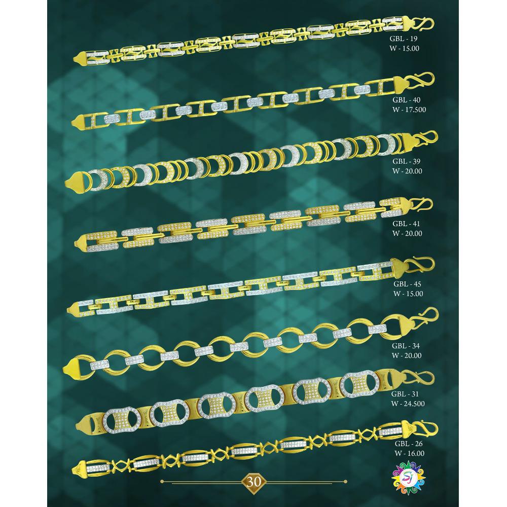 916 gold cz diamond ladies bracelet