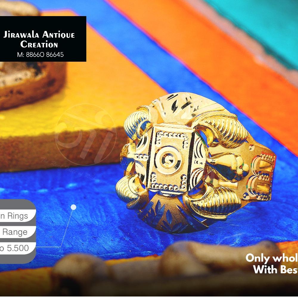22KT Designer Nazaran Gold Ring JAR-014