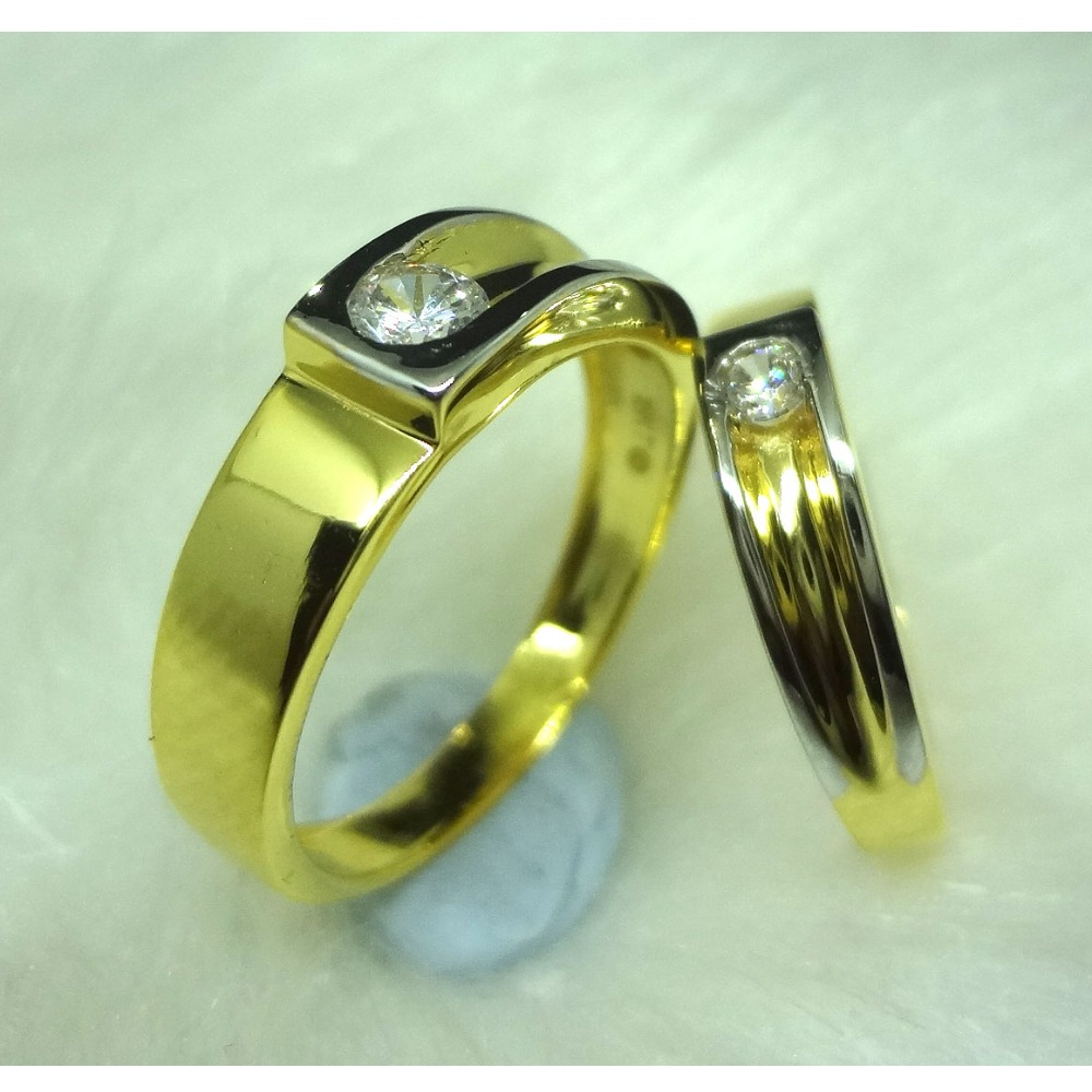 916 GOLD CZ DAIMOND  COUPLE RINGS