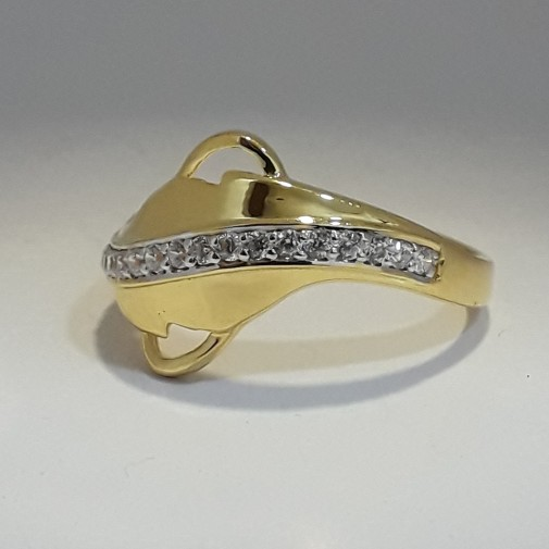 916 Gold Fancy Ring for woman MJ-IE2042