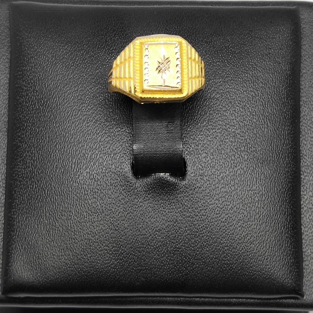 18Kt gold designer ring for gents dj-r002