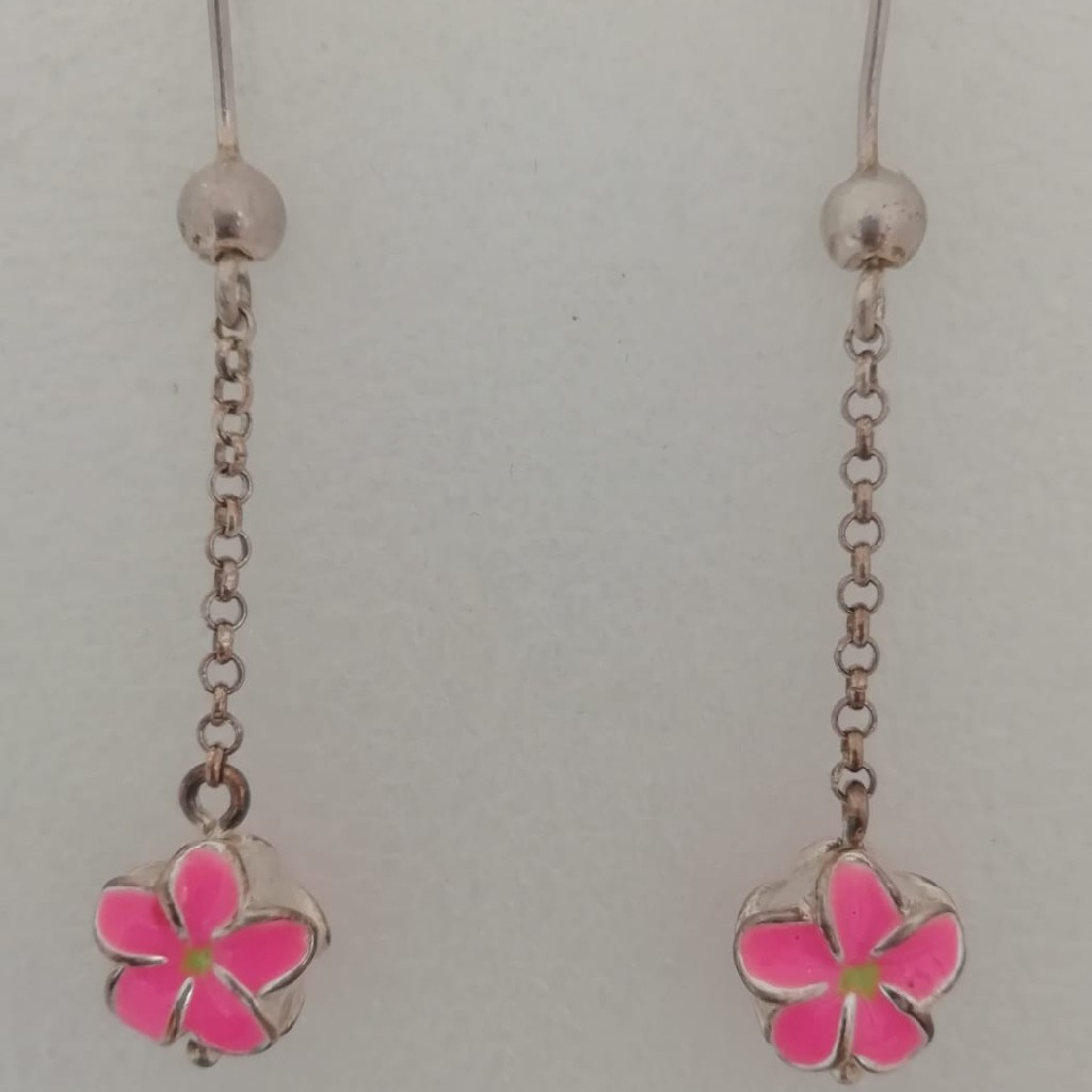 sterling silver flower design earrings