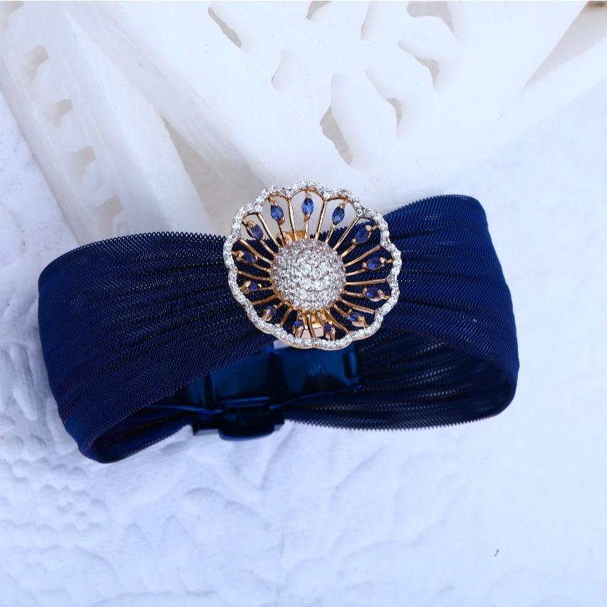 916 Gold CZ hallmark Elegant Design Bracelet