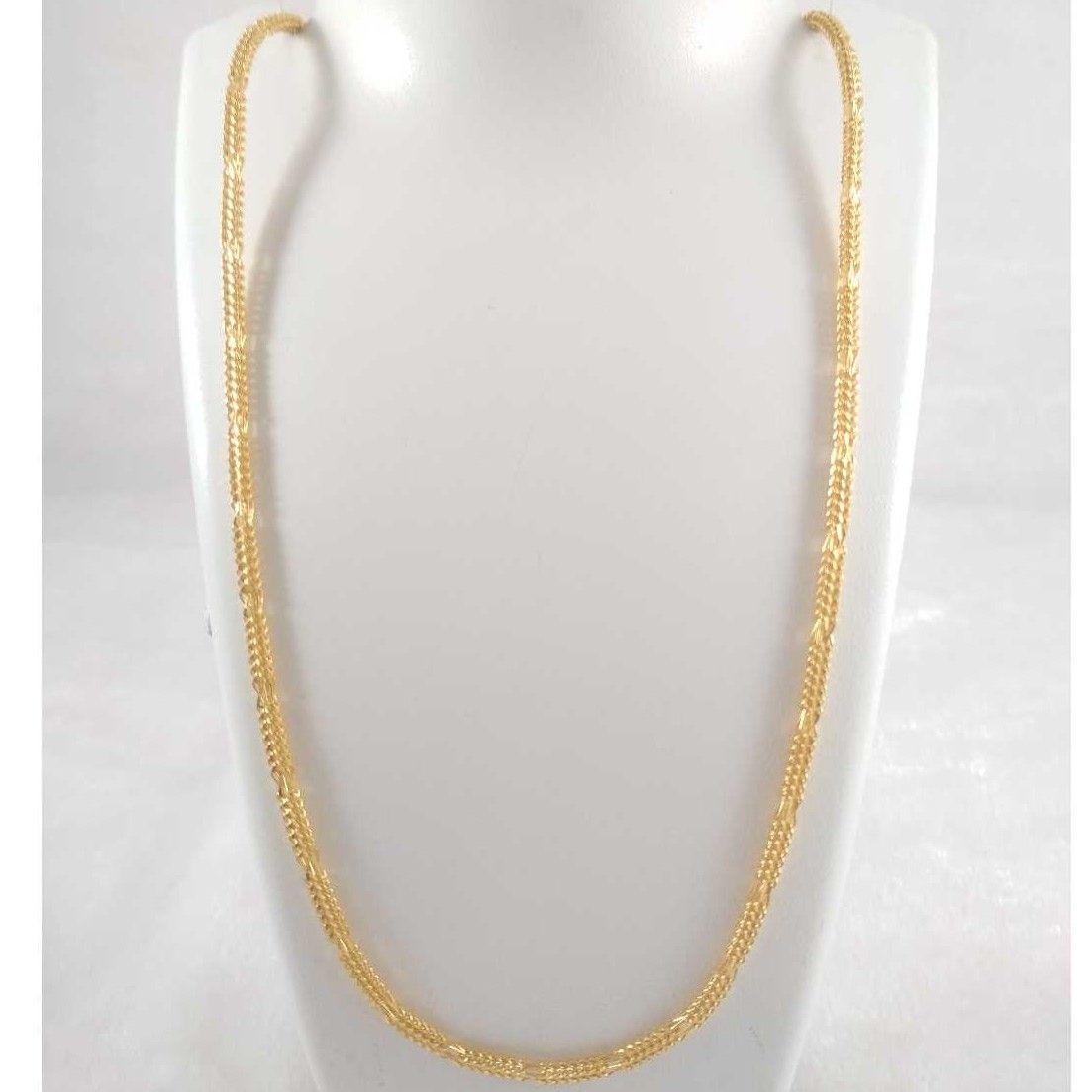 22 k gold chain. nj-c0266