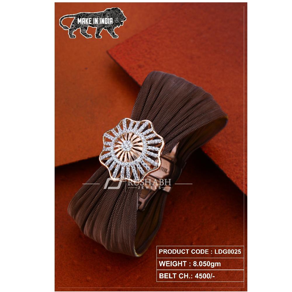 18 carat ladies rose gold bracelet  round shape  ldg0025