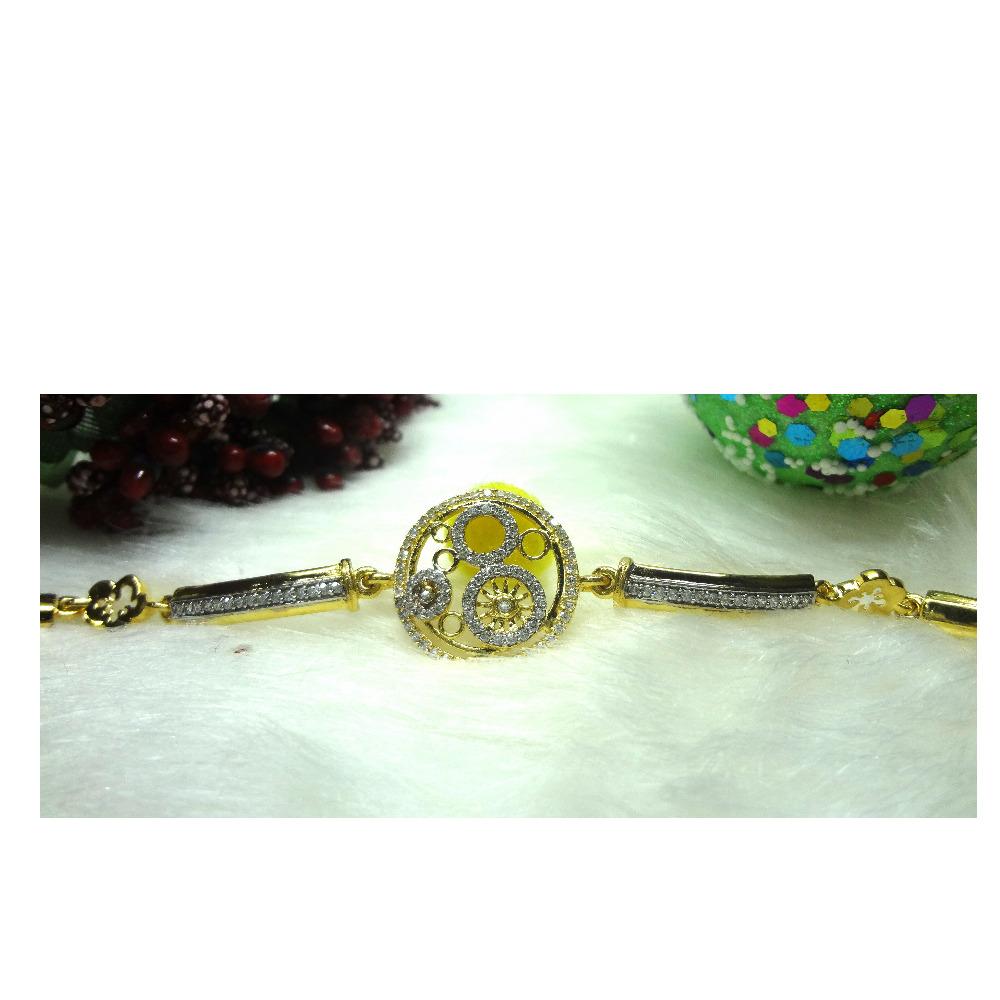 916 cz gold diamond bracelet