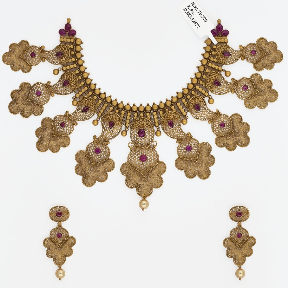 916 Gold Bridal Necklace Set SJ-2541