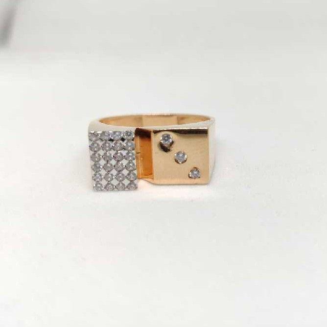 18k men's rose gold rings NO-31316