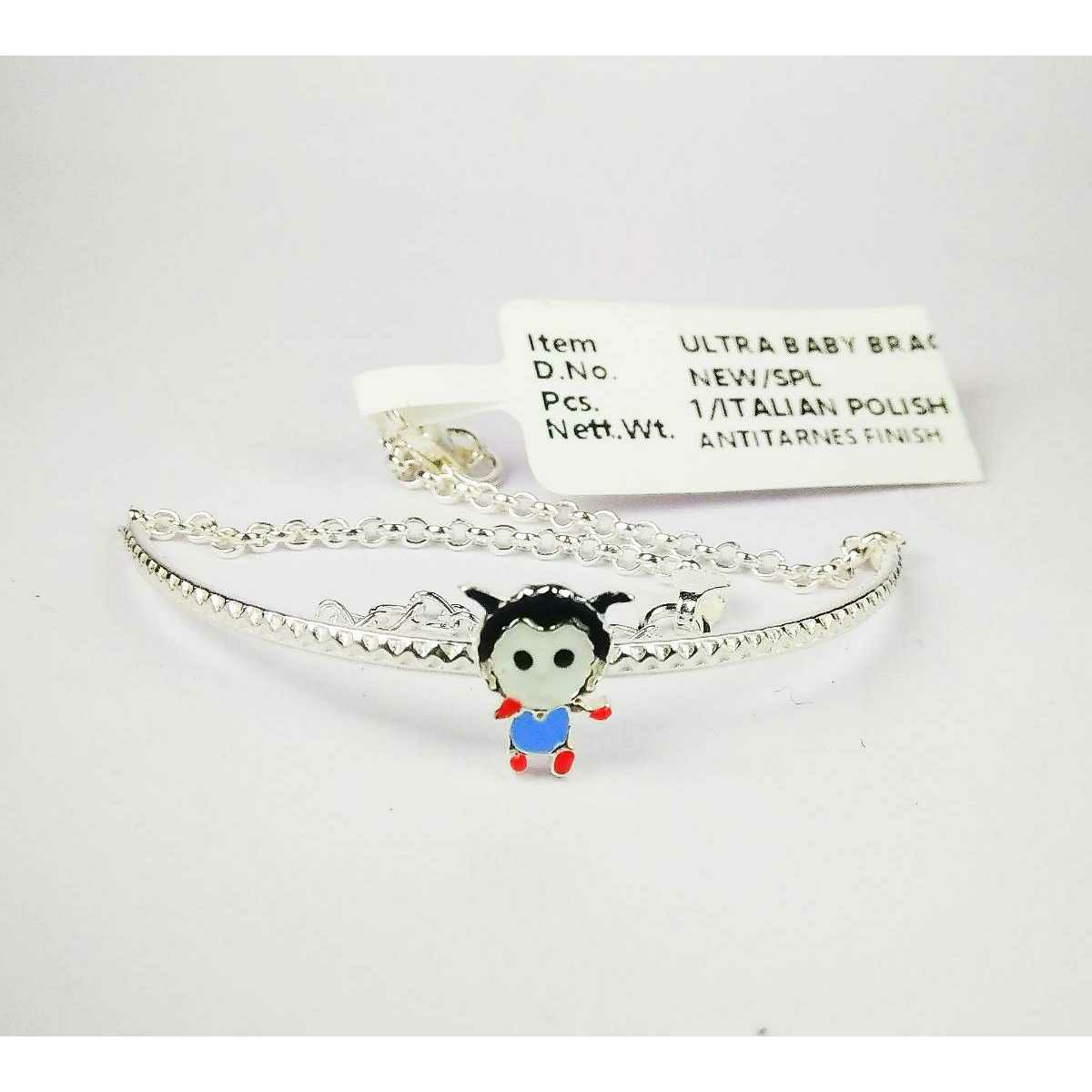 New 925 Silver Baby Bracelet With Ghost Shape