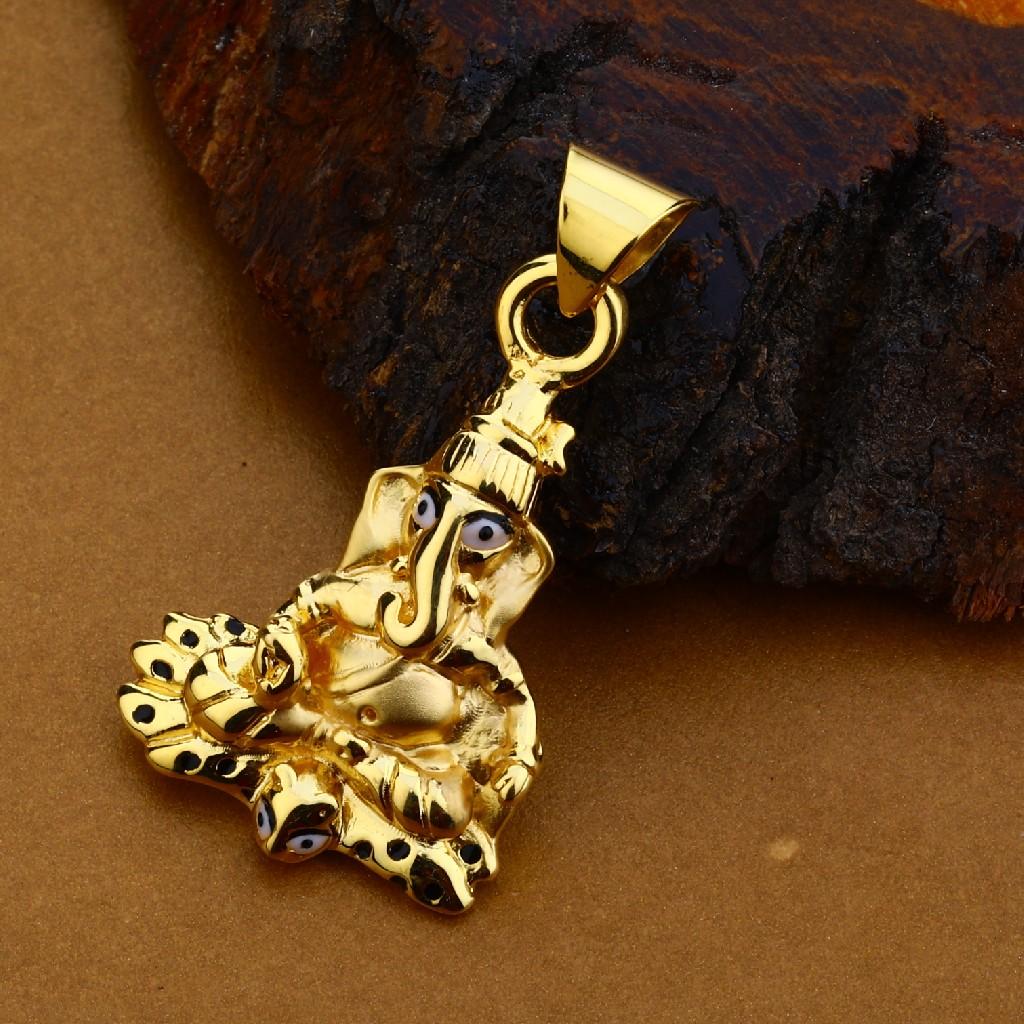 18kt Gold Hallmark Fancy Pendant For men HLP128