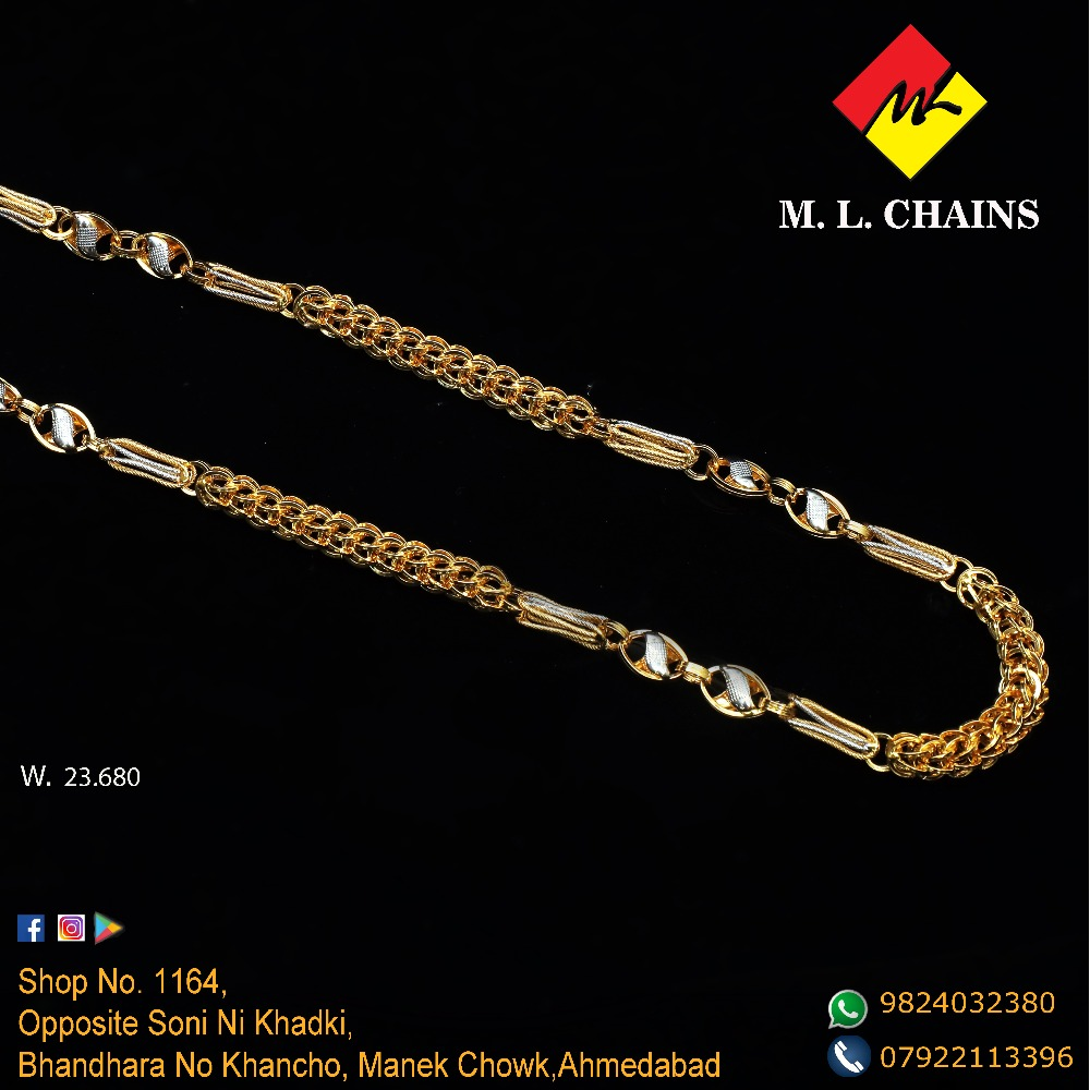 22KT Gold Indo Italian Chain ML-C10