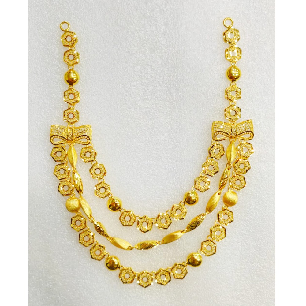 22KT Gold Attractive 3 layer Necklace MJ-N006
