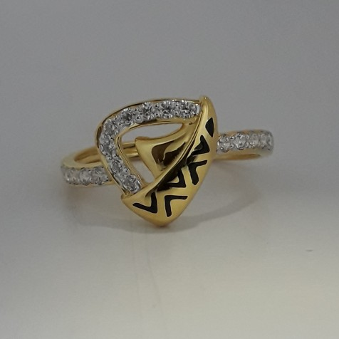 916 Gold fancy carving ring for woman MJ-DK9348