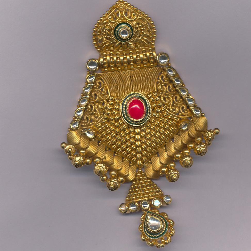 Indian Classic 916 Gold Ladies Pendant