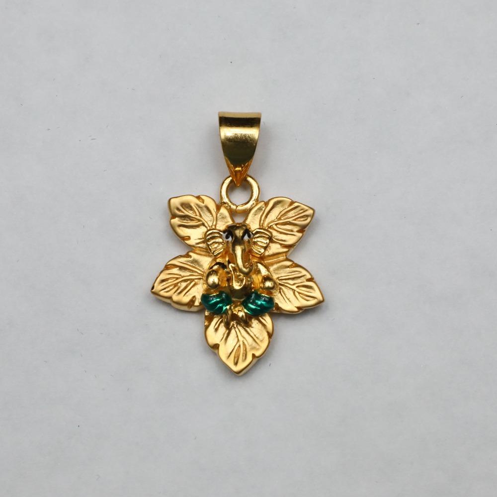 916 Gold Ganesha pendant ML-P005