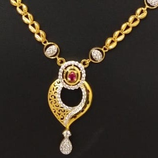 18 carat gold chain set.