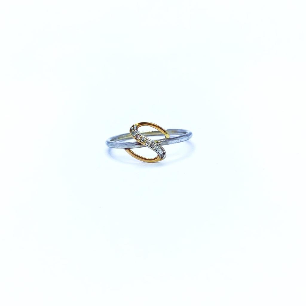 Real diamond fancy s letter ring