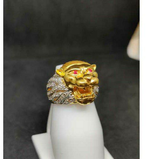 22k Gents Fancy Lion Ring R-28551