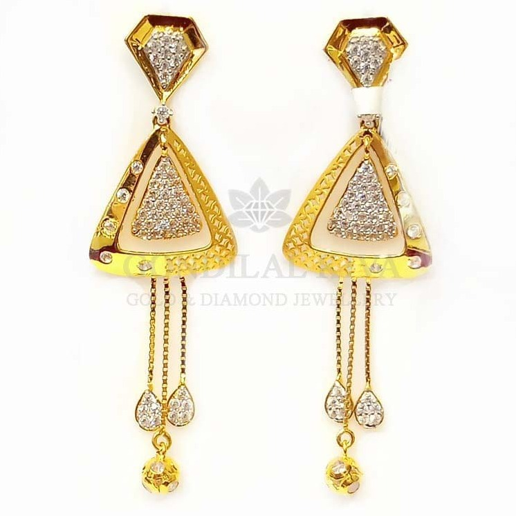 18 kt gold earrings gft424