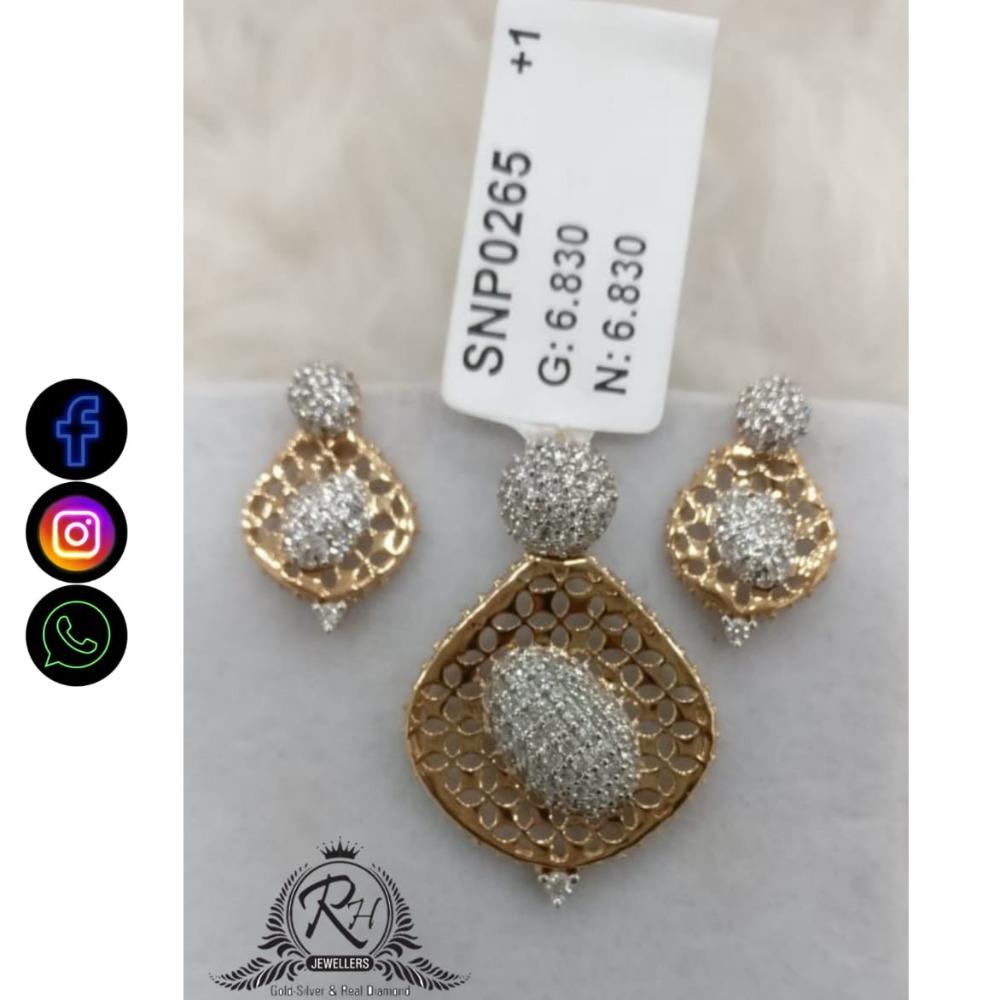 22 carat gold classical daimond earrings set RH-ER677