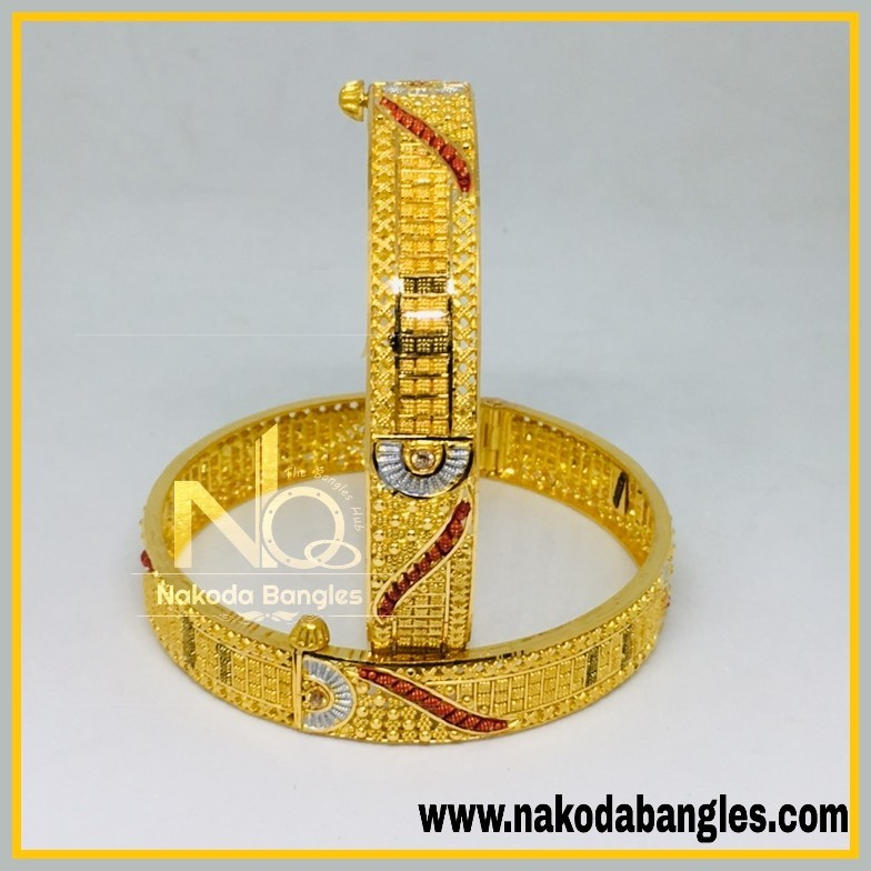 916 Gold Calcutty Bangles NB - 442