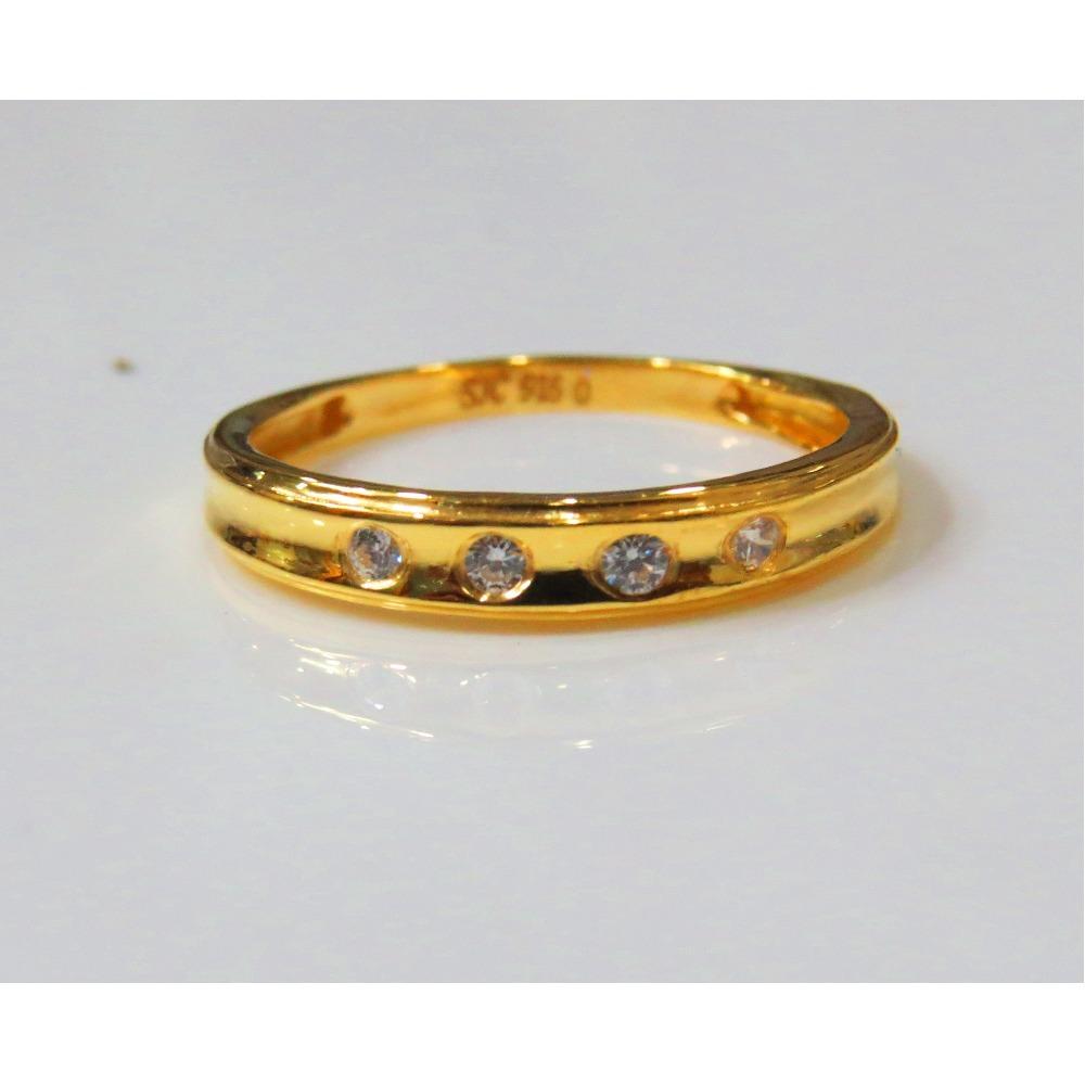 22kt Gold Cz Casting Ladies Ring