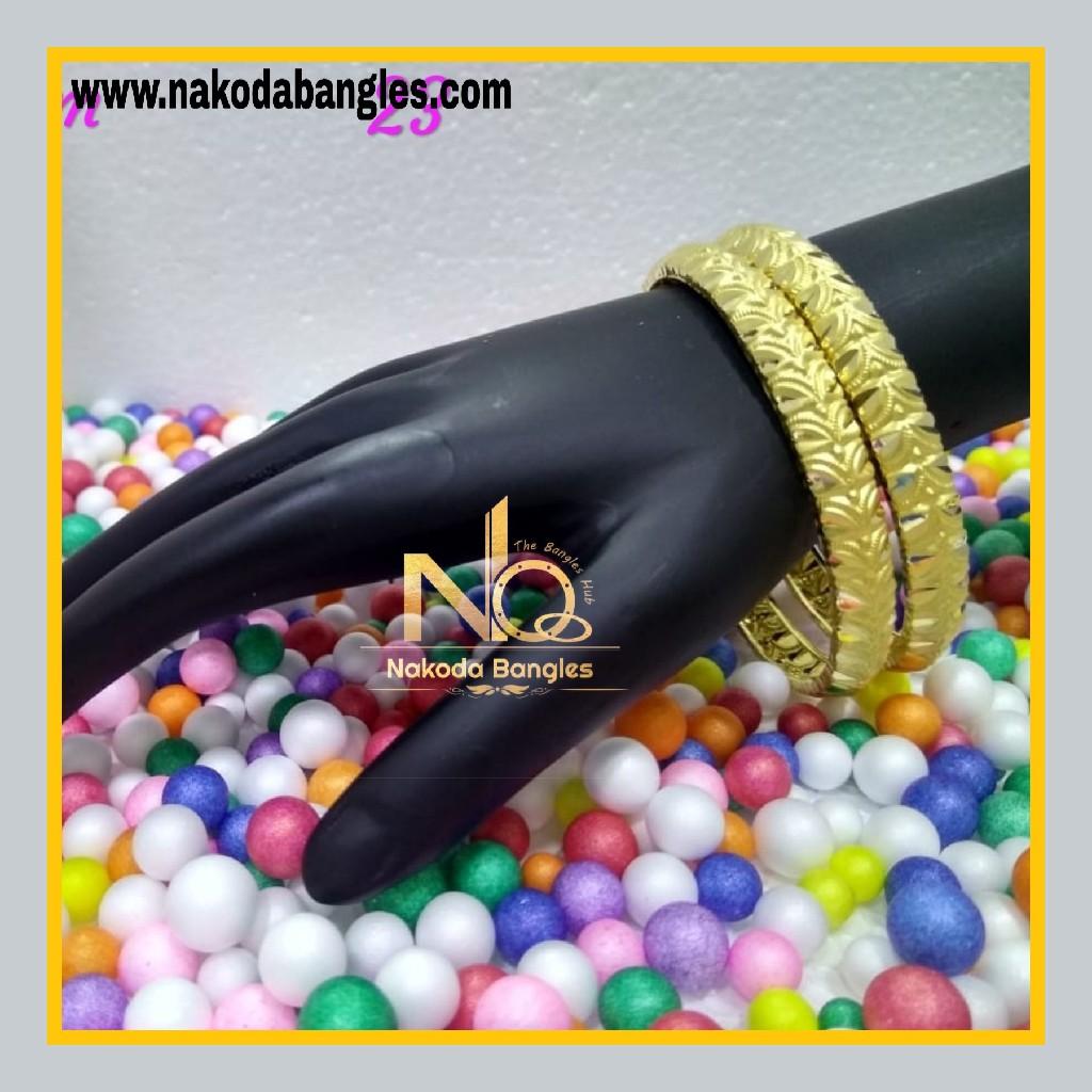 916 Gold Patra Bangles NB - 588