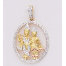 22KT Ladies Gold Fancy Pendant