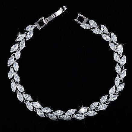 marquise charm bracelet