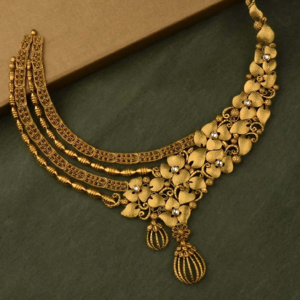 916 gold weeding necklace MJ-084