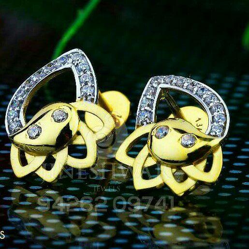 18kt Precious Designer Gold Cz Ladies Tops ATG -0199