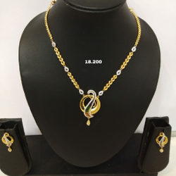 22kt CZ NECKLACES FOR WOMEN