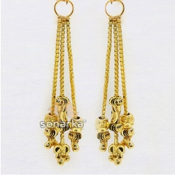 Lightweight Gold Latkan Earrings