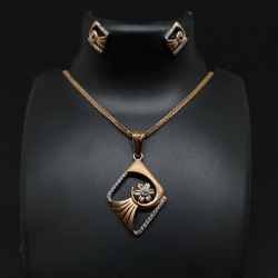 Rose Gold Pendant Set