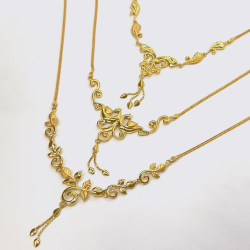 Gold Necklace Dokiya Set