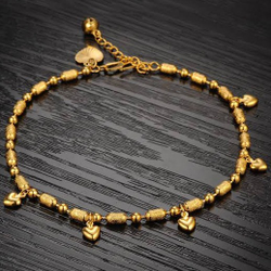 DESIGNED GOLD  LADIES BRACELET