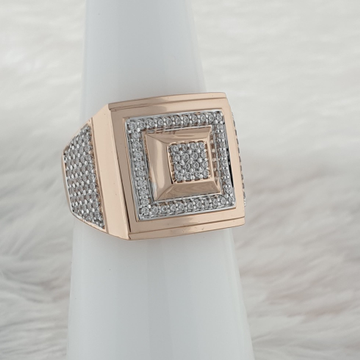 Rose gold Gents ring