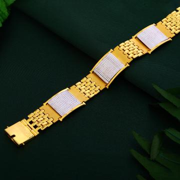 Mens Plain Gold Bracelet