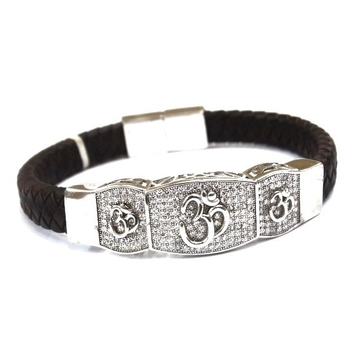 Silver Gents Kada Bracelet